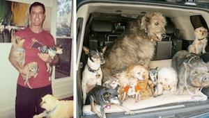 Tenhle muž adoptuje staré psy, které nikdo nechce. To, jak to vypadá u něho doma