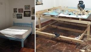 Měl tak malý pokoj, že se ho rozhodl přestavět… Výsledek je úžasný!