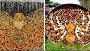 Když začali připravovat dřevo na zimu, nečekali, že z toho vznikne nová záliba!