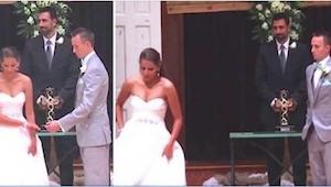 Tato nevěsta svému manželovi připravila překvapení, na které nezapomene do konce