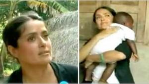 Salma Hayek vzala do náručí dítě z Afriky. To, co udělala, byli všichni v šoku.