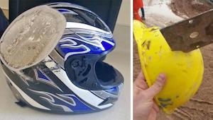 Zde je 9 příkladů, proč byste měli nosit přilbu.