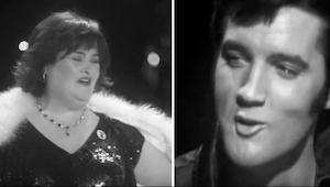 Duet Elvise Presleyho a Susan Boylové musíte slyšet. Běhá nám mráz po zádech!