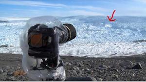 Na led umístil kameru. Později natočil něco neuvěřitelného!