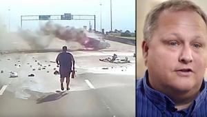 Řidič náklaďáku spatřil děsivou nehodu a okamžitě utíkal na pomoc. To, co natoči