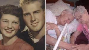 Umírající muž držel za ruku svou manželku. Když ji o něco později spatřila její