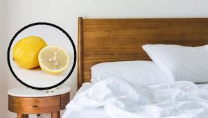 Zjistěte, co se stane, když k posteli položíte i polovinu citronu