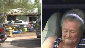 Starší žena bydlí v autě před vlastním domem. Když se to dozvěděl její soused, o