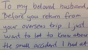 Zjistil, že ho jeho manželka podvádí. Aby se jí pomstil, čekal, až nadejde den j