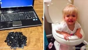 21 fotek, které jsou důkazem toho, že děti nemůžete nechat o samotě ani vteřinu!