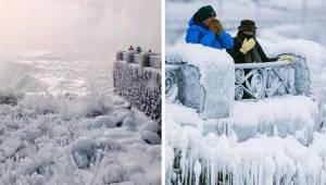 V USA a Kanadě je tak zima, že zamrznuly i Niagarské vodopády - Všechno teď vypa