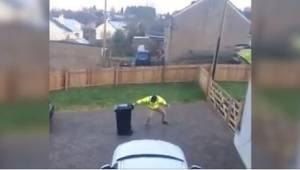 Když jeho manželka uviděla, co se děje venku, popadla kameru a natočila virální