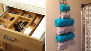 12 neuvěřitelně šikovných triků pro víc místa v malé koupelně.