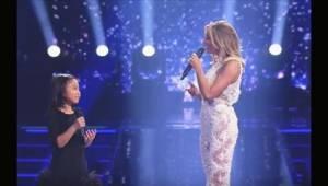 Slavná hvězda poprosila malou holčičku, aby zazpívala píseň You Raise Me Up. O n