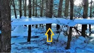 V polské vesničce odhalili zajímavý levitující led!