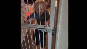 Rodiče instalovali na dveře branku, aby chránili svého syna... Zde je výsledek!