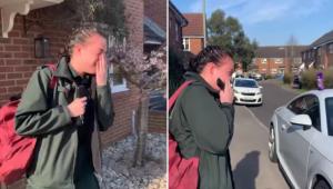 Mladá záchranářka odchází do práce. To, co pro ni dělají sousedi, je dechberoucí
